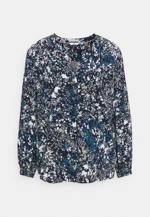 FEMININE WITH PRINT - Blouse - navy yellow flower design
