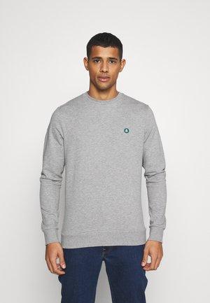 JJEBADGE CREW NECK  - Sweatshirt - light grey melange