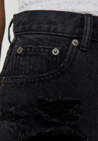 PULL&BEAR - Jeansshort - black - 4