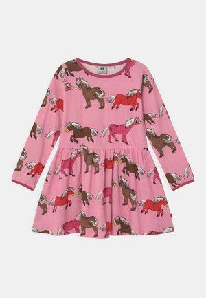 HORSES - Jersey dress - sea pink