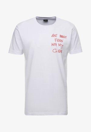 CLIQUE TEE - Print T-shirt - white