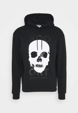 HOODIE WITH SMALL SKULL - Mikina - black