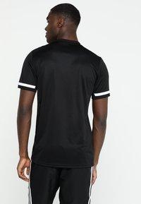 adidas Performance - TEAM 19 - T-shirt imprimé - black - 2