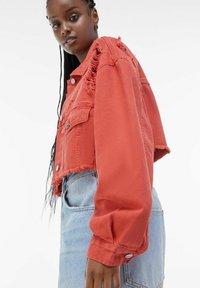 Bershka - Denim jacket - red - 3