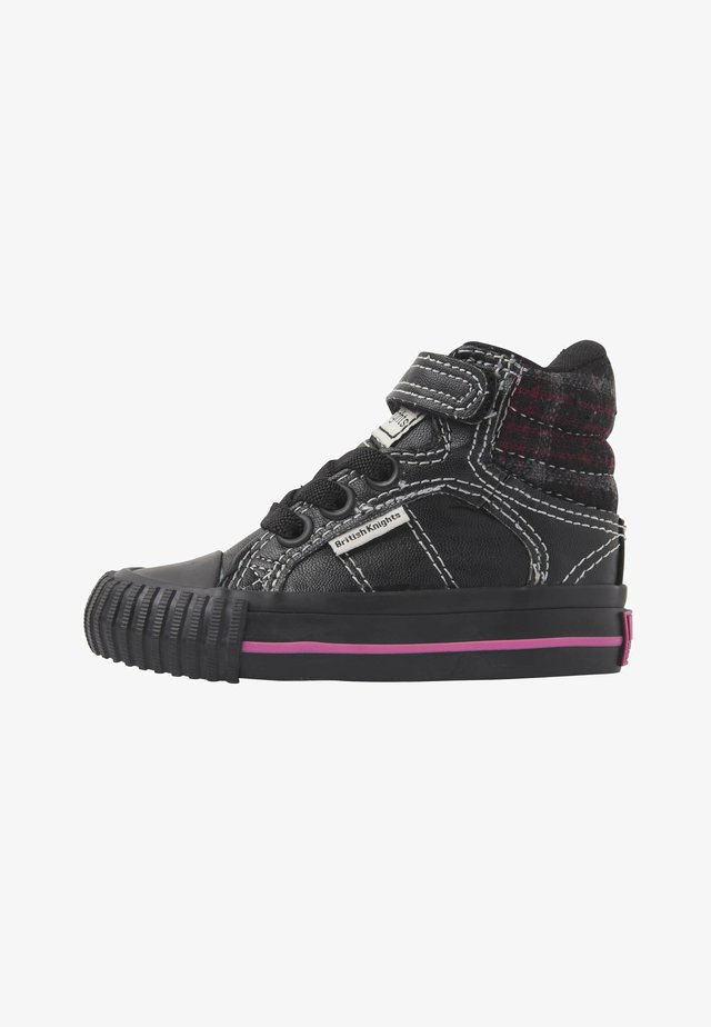 ATOLL - Sneakers - black/fuchsia checker/black