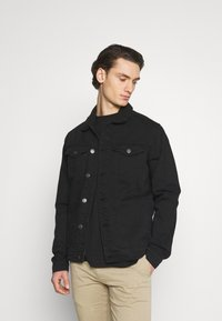 Newport Bay Sailing Club - BORG TRUCKER - Denim jacket - black - 0