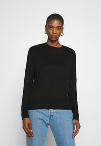 Banana Republic - EASY CREW SOLIDS - Jumper - black - 0