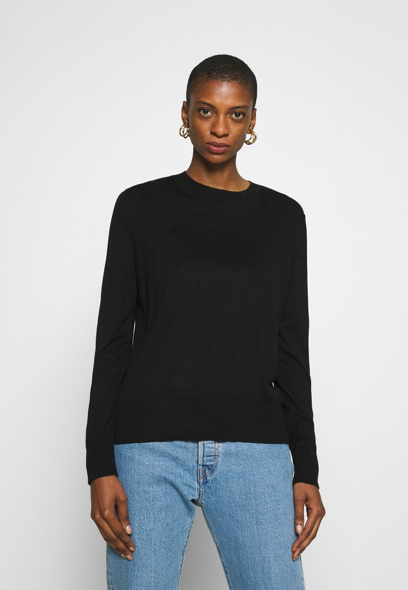 Banana Republic - EASY CREW SOLIDS - Jumper - black
