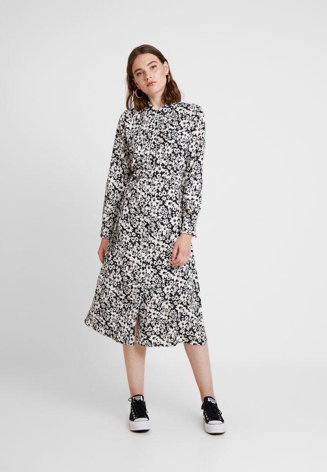 ONLOPHELIA DRESS - Vestido camisero - white/black