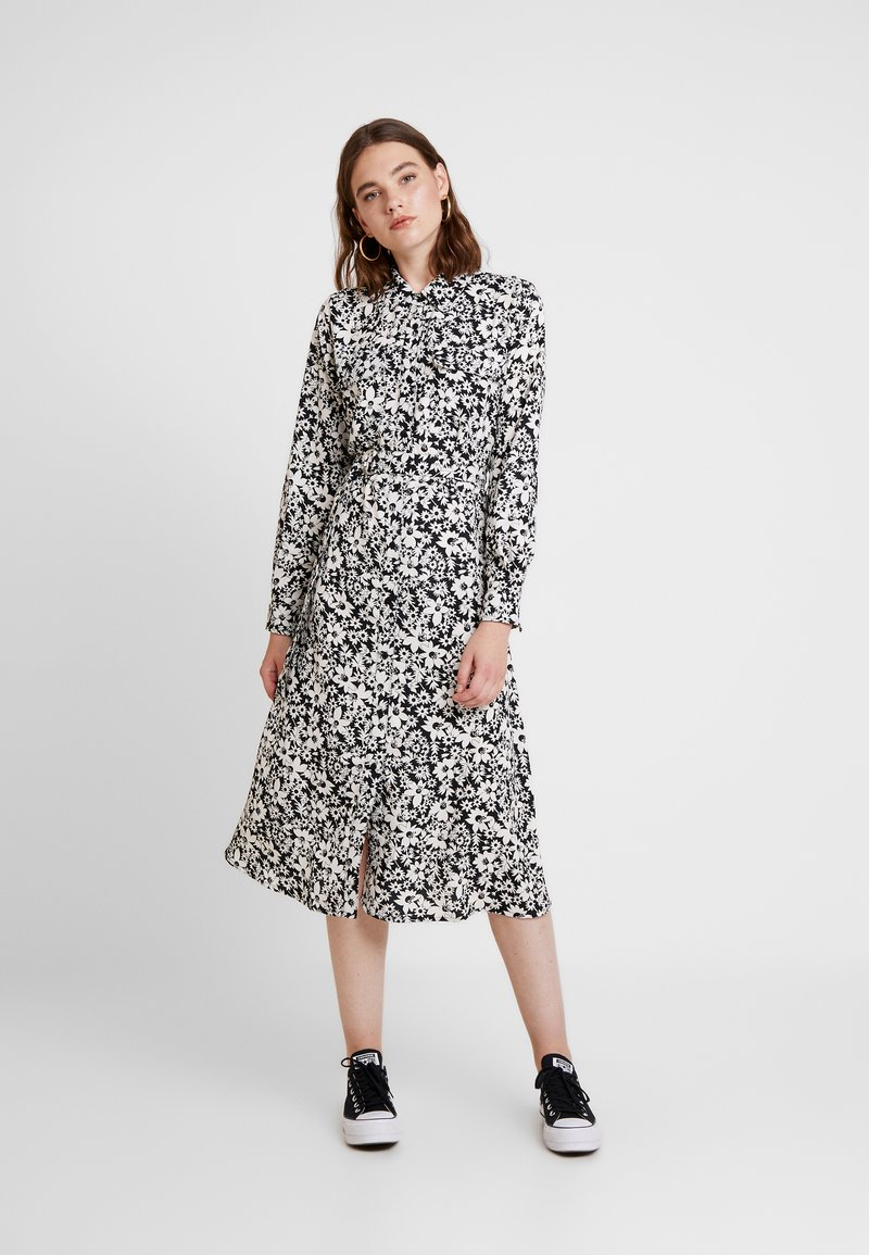 ONLY - ONLOPHELIA DRESS - Skjortekjole - white/black