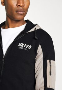 Redefined Rebel - RODNEY SWEAT - veste en sweat zippée - black - 4