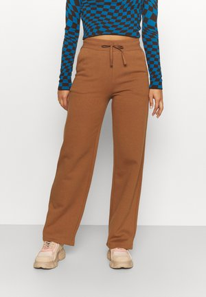 STRAIGHT PANTS - Tracksuit bottoms - brown