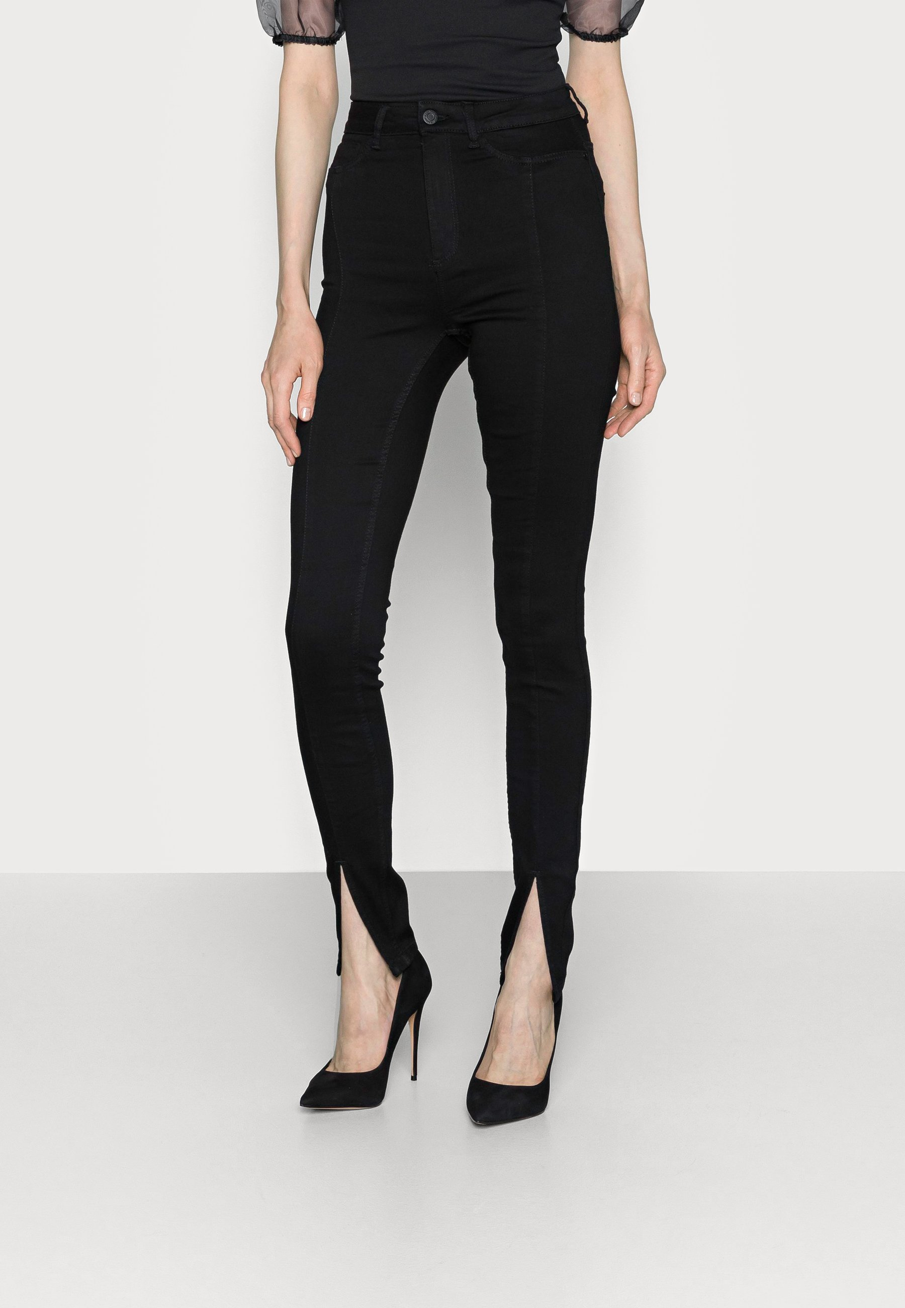 Women NMCALLIE SLIT DETAIL - Jeans Skinny Fit