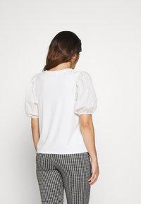 Dorothy Perkins Petite - PETITES COTRAST TEE - Print T-shirt - white - 2