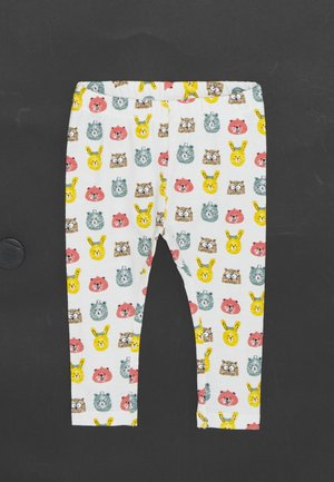 NBNUMLO SET UNISEX - Leggings - Trousers - snow white