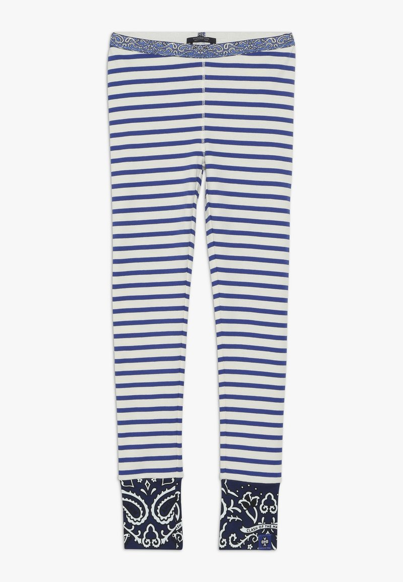 Scotch & Soda - SPECIAL MIX - Leggings - Trousers - blue/white
