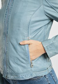 Gipsy - AELLY LAMAS - Leather jacket - light blue - 5