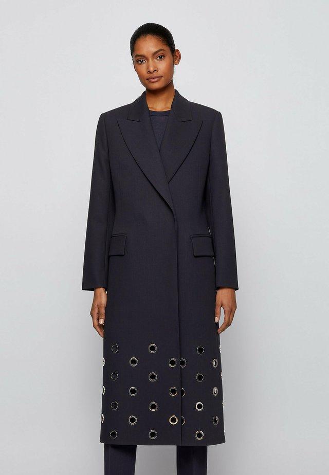 Classic coat - open blue