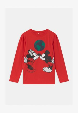 DISNEY MINNIE MOUSE & MICKEY MOUSE - Long sleeved top - high risk red
