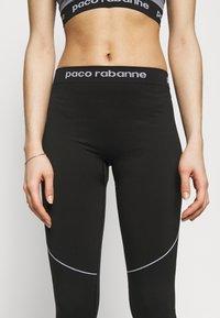 Paco Rabanne - PANTALON - Legíny - black/white - 3