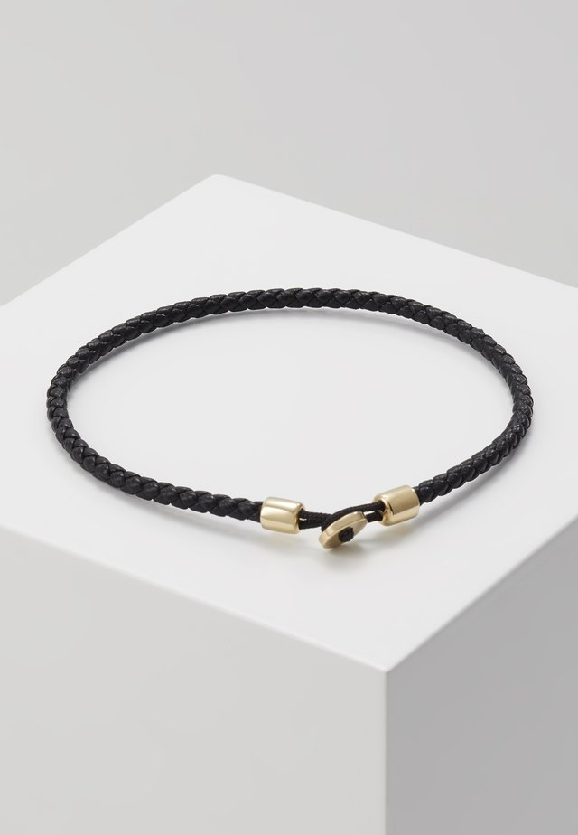 NEXUS ROPE BRACELET - Pulsera - black/gold-coloured