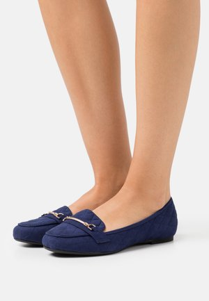 WIDE FIT LILT QUILT SNAFFLE LOAFER - Instappers - navy