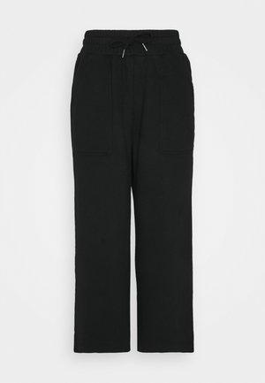 WIDE LEG CULOTTE - Tracksuit bottoms - black