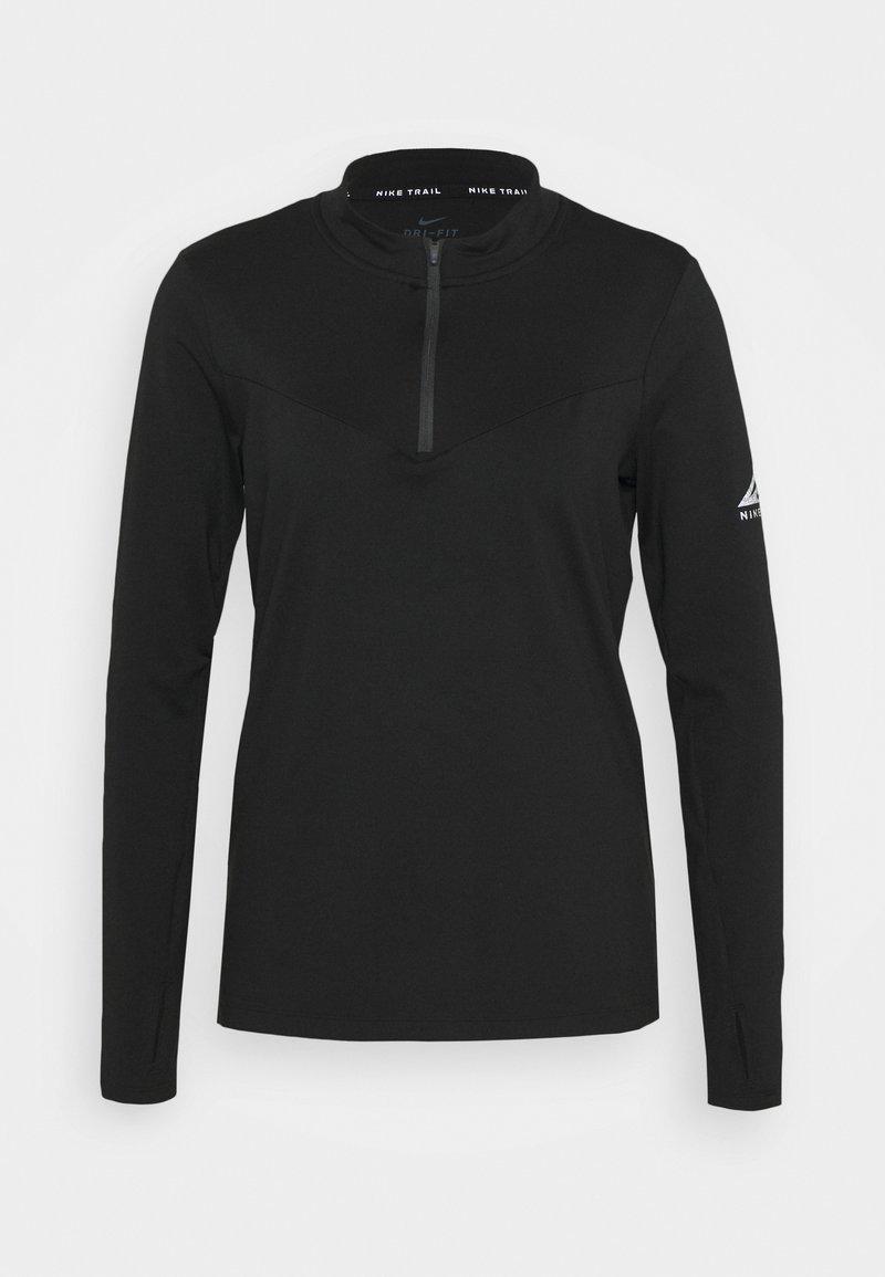 Nike Performance - ELEMENT TRAIL MIDLAYER - Funkční triko - black/silver