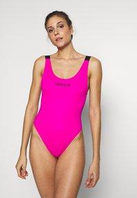 Calvin Klein Swimwear - INTENSE POWER SCOOP ONE PIECE - Swimsuit - pink glo - 0