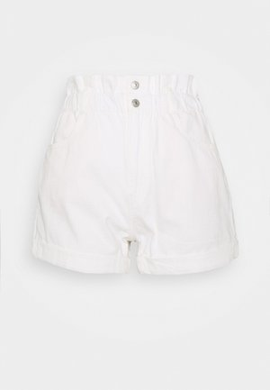 HR PAPERBAG SHORT - Jeansshorts - white denim