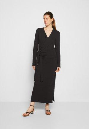 ELLA MIDI WRAP DRESS - Jumper dress - black