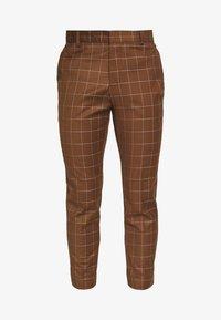New Look - GRID CROP  - Spodnie materiałowe - tan - 3