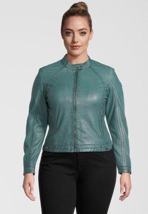 Leather jacket - türkis