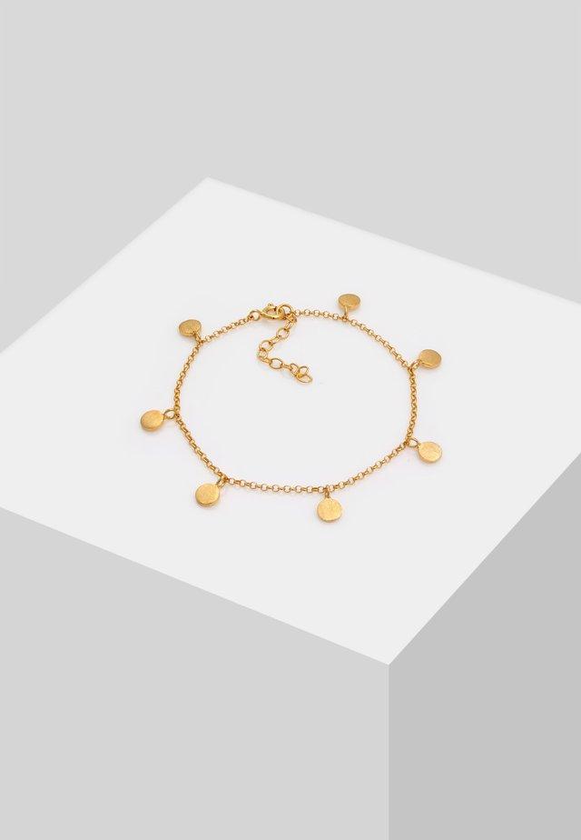 COIN TABLET CIRCLE GEO BASIC - Armband - gold