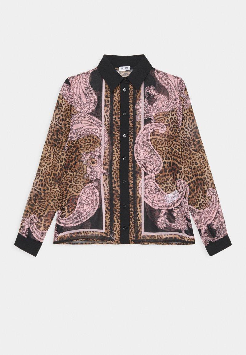 Liu Jo Jeans - CAMICIA GEORGETTE - Button-down blouse - beige