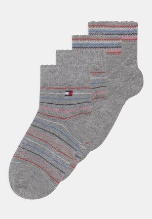 4 PACK UNISEX - Socks - light grey melange