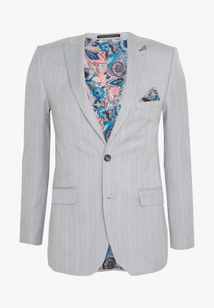 BONE STRIPE JACKET SKINNY FIT - Suit jacket - light grey