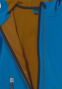 TrollKids - TROLLFJORD UNISEX - Softshellová bunda - azure blue/bronze - 2