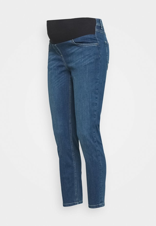 SLIM STRAIGHT CROP - Jeansy Slim Fit - dark vintage