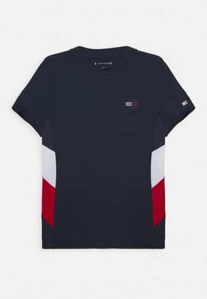 SPORT COLORBLOCK TEE UNISEX - T-shirt print - blue