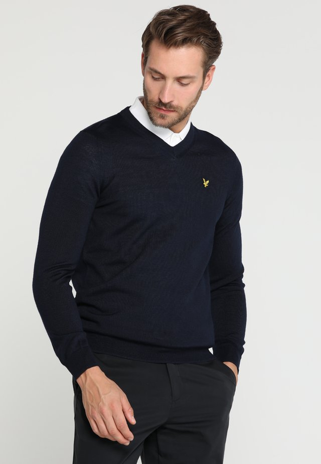 GOLF V NECK - Pullover - navy