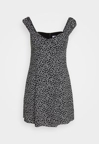 Calvin Klein Jeans - OFF SHOULDER FLORAL DRESS - Vestito estivo - black/white - 4