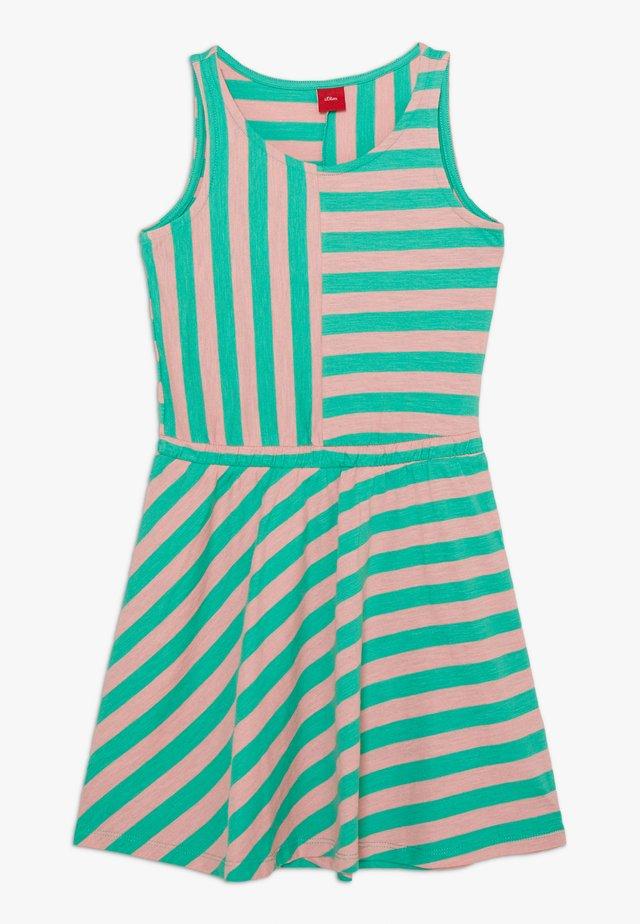 Žerzejové šaty - apfelgrün