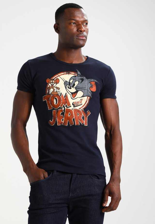 TOM UND JERRY - Print T-shirt - navy