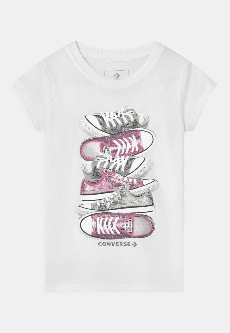 Converse - SHOE STACK - Camiseta estampada - white