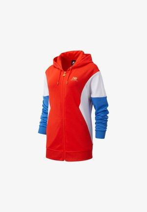 ATHLETICS VILLAGE - Zip-up hoodie - neo flame