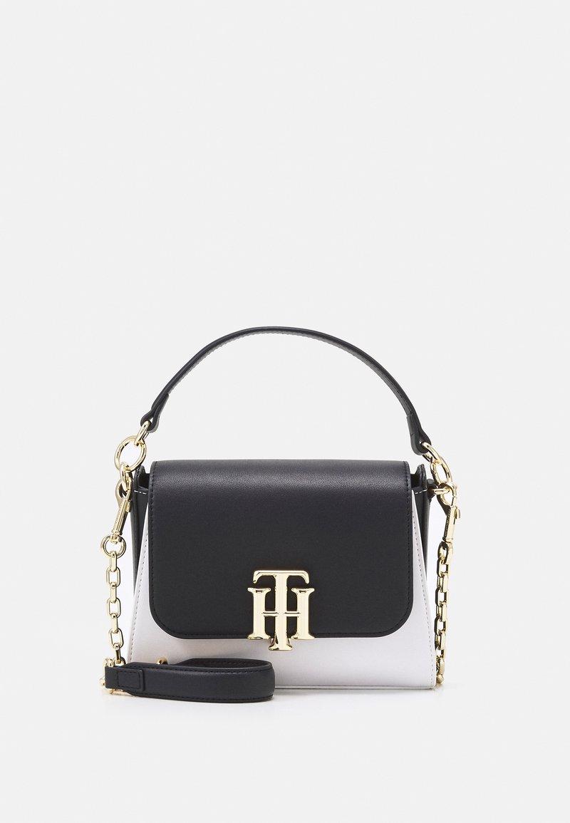 Tommy Hilfiger - LOCK SMALL SATCHEL - Handbag - blue