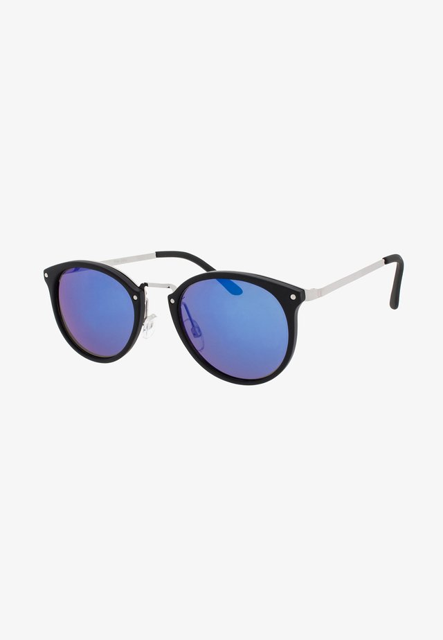 BERLIN - Sonnenbrille - matt black / blue lens