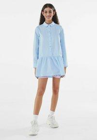 Bershka - Robe chemise - light blue - 1