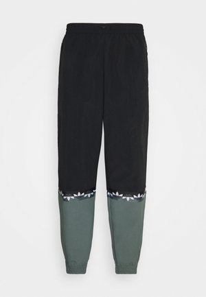 SLICE TREFOIL ADICOLOR PRIMEGREEN ORIGINALS SLIM TRACK - Tracksuit bottoms - black/blue oxide